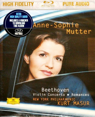 Beethoven - Anne-Sophie Mutter, Kurt Masur, New York Philharmonic ‎– Violin Concerto • Romances (Blu-ray Audio)