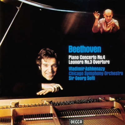 Beethoven - Vladimir Ashkenazy, Chicago Symphony Orchestra, Sir Georg Solti ‎– Piano Concerto No. 4 / Overture In C Major
