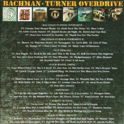 Bachman-Turner Overdrive ‎– Classic Album Set (8xCD)