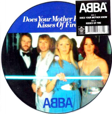 ABBA ‎– Does Your Mother Know / Kisses Of Fire (Vinyl, 7