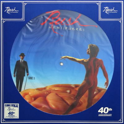 Rush ‎– Hemispheres (Limited Edition, Misprint, Picture Disc)