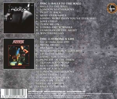 Accept ‎– Balls To The Wall / Staying A Life (2xCD)