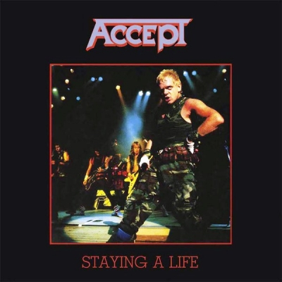 Accept ‎– Staying A Life (2xLP) (Deluxe Edition, Red)