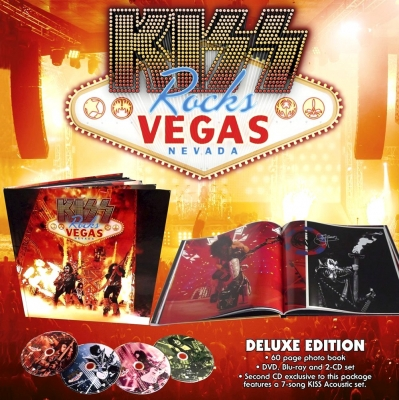 Kiss - Kiss Rocks Vegas (2xCD, DVD, Blu-Ray) (Deluxe Edition)