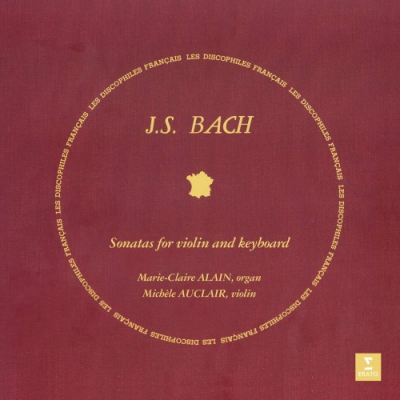 J.S. Bach, Marie-Claire Alain, Michèle Auclair ‎– Sonatas For Keyboard And Violin (2xLP)