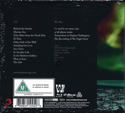 Steve Hackett ‎– The Night Siren (CD, Blu-ray)